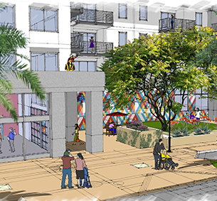 MW Steele Group | Community HousingWorks Paseo Artist Village