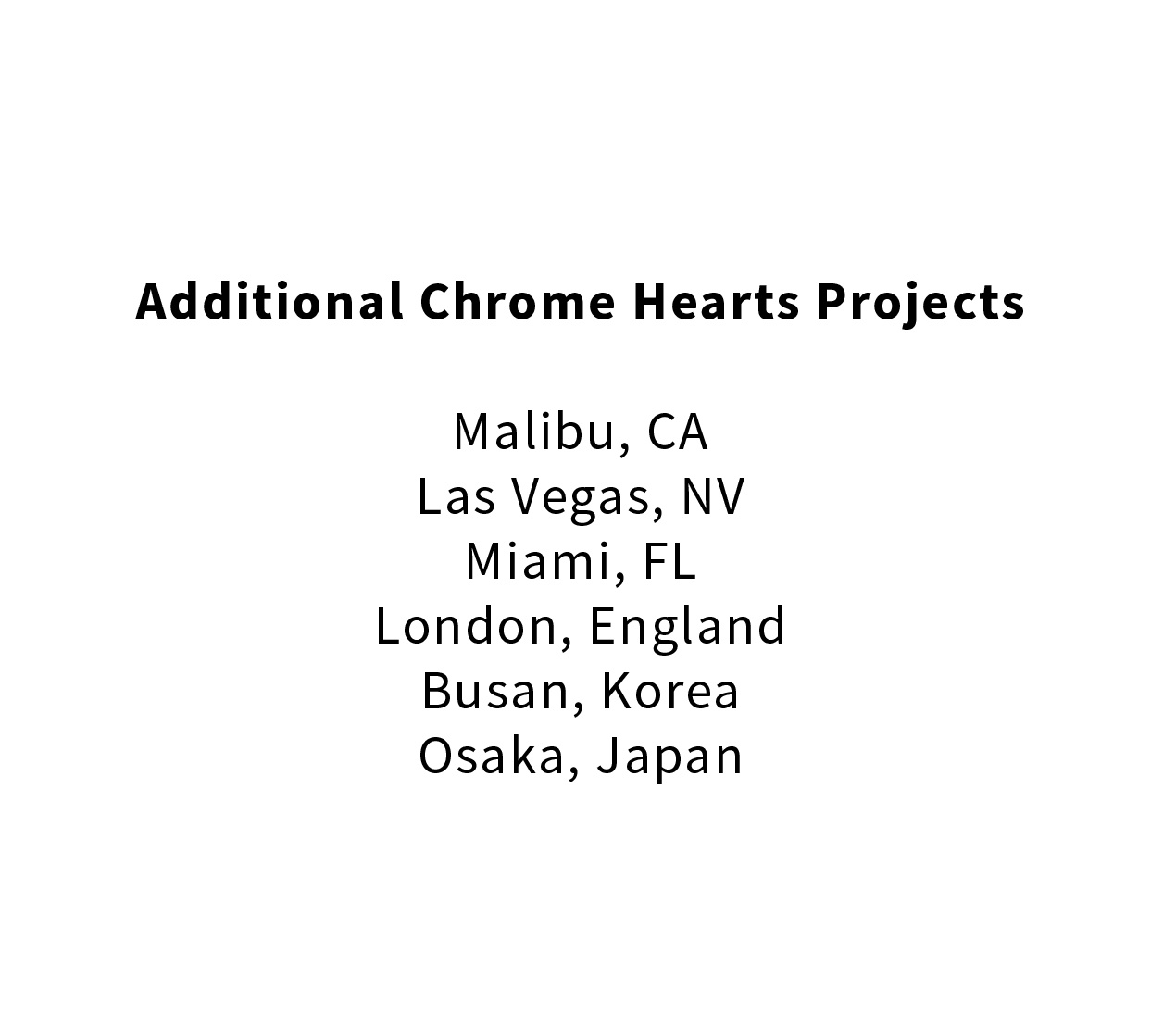 Chrome Hearts Architectural Design