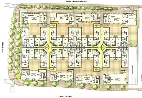 SDSU Fraternity Row Chapter Houses | MW Steele Group Architecture and Planning